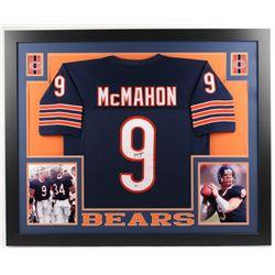 Jim McMahon Signed Chicago Bears 35x43 Custom Framed Jersey (Beckett COA)