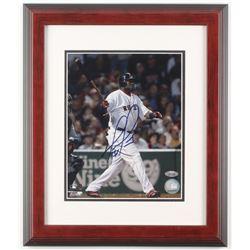 David Ortiz Signed Boston Red Sox 13.5x16 Custom Framed Photo Display (Steiner Hologram)