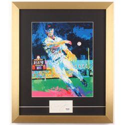 """Cal Ripken Jr. Signed Leroy Neiman """"Ripken 2131"""" 16x19 Custom Framed Print  Cut Display (PSA COA)"""