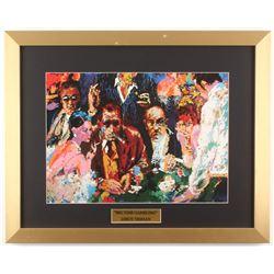 "LeRoy Neiman ""Big Time Gambling"" 16.5x20.5 Custom Framed Print Display"