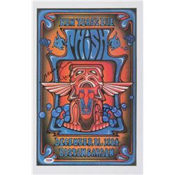 """Phish"" 11x17 Poster Band-Signed by (3) with Trey Anastasio, Mike Gordon  Page McConnell (PSA LOA)"