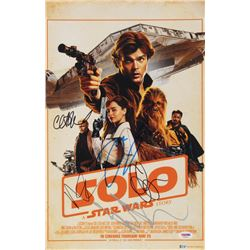 """A Star Wars Story: Solo"" 11x17 Movie Poster Cast-Signed by (5) with Emilia Clarke, Alden Ehreneich,"