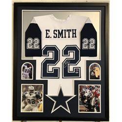 Emmitt Smith Signed Dallas Cowboys 34x42 Custom Framed Jersey (Beckett COA  PROVA Hologram)