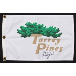 "Phil Mickelson Signed ""Torrey Pines"" Golf Pin Flag (PSA COA)"