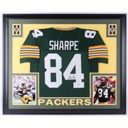 Sterling Sharpe Signed Packers 35x43 Custom Framed Jersey (Beckett COA)