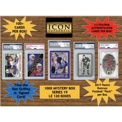 Icon Authentic 100X Mystery Box Series 19 - (100+ Cards Per Box)