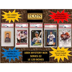 ICON AUTHENTIC  100X MYSTERY BOX SERIES 22 100+ Cards per Box