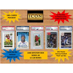 ICON AUTHENTIC  100X MYSTERY BOX SERIES 20 100+ Cards per Box