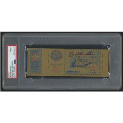 """Nolan Ryan Signed 1973 All-Star Game Ticket Inscribed """"8x All-Star"""" (PSA Encapsulated)"""