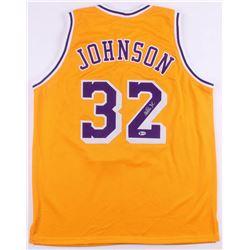 Magic Johnson Signed Los Angeles Lakers Jersey (Beckett COA)