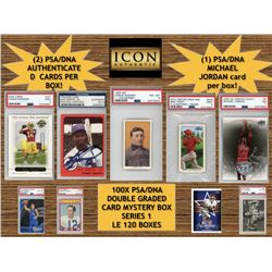 Icon Authentic 100X PSA/DNA Double Graded Card Mystery Box Series 1 (100+ Cards Per Box)