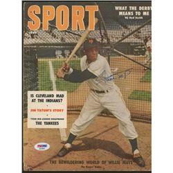 Willie Mays Signed Vintage 1956 Sport Magazine (PSA COA)