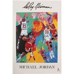 """Leroy Neiman """"Michael Jordan"""" 24x36 Lithograph"""