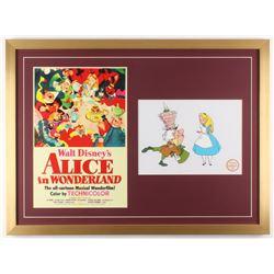 "Walt Disney's ""Alice in Wonderland"" 23x31 Custom Framed Print  Animation Serigraph"