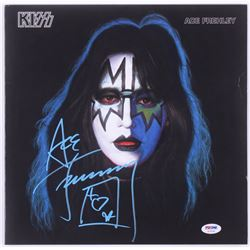 """Ace Frehley Signed KISS """"Ace Frehley"""" Vinyl Record Album With Inscription (PSA Hologram)"""