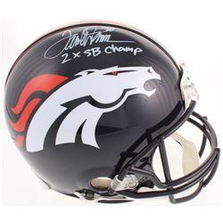 "Terrell Davis Signed Denver Broncos Full-Size Authentic Proline Helmet Inscribed ""2x SB Champ"" (Radt"
