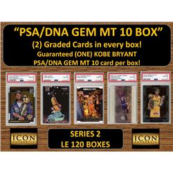 ICON AUTHENTIC  PSA/DNA GEM MT 10 CARD MYSTERY BOX (2) GRADED CARDS PER BOX! Guaranteed (one) Kobe B