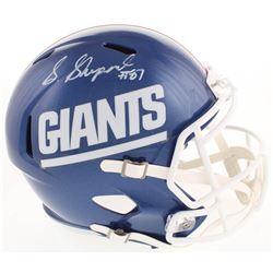 Sterling Shepard Signed New York Giants Color Rush Full-Size Speed Helmet (Fanatics Hologram)