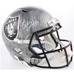 Warren Sapp Signed Oakland Raiders Full-Size Hydro Dipped Speed Helmet (JSA COA)