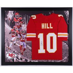 Tyreek Hill Signed Kansas City Chiefs 35.5x43.5 Custom Framed Jersey (JSA COA)