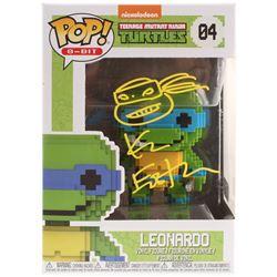 """Kevin Eastman Signed Teenage Mutant Ninja Turtles """"Leonardo"""" #04 8-Bit Funko POP! Vinyl Figure with"""