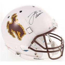 Josh Allen Signed Wyoming Cowboys Full-Size Helmet (Radtke COA)