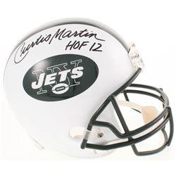 "Curtis Martin Signed New York Jets Full-Size Helmet Inscribed ""HOF 12"" (Radtke COA)"