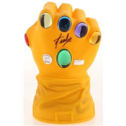 """Stan Lee Signed Full Size Marvel """"Infinity Gauntlet"""" Bank (Radtke COA  Lee Hologram)"""