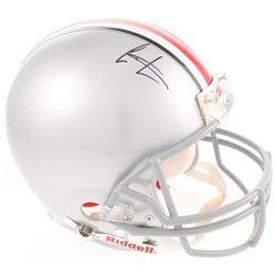 Cris Carter Signed Ohio State Buckeyes Full-Size Authentic On-Field Helmet (JSA COA)