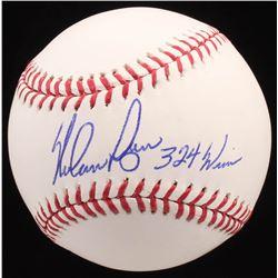 "Nolan Ryan Signed OML Baseball Inscribed ""324 Wins"" (Radtke COA  Ryan Hologram)"