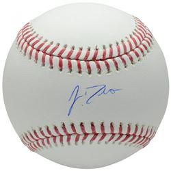 J.T. Realmuto Signed OML Baseball (Fanatics Hologram)