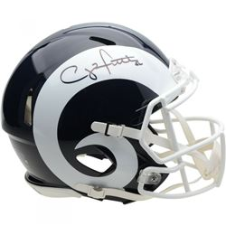 Clay Matthews Signed Los Angeles Rams Full-Size Speed Helmet (Fanatics Hologram)