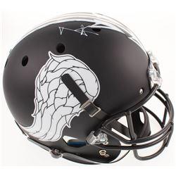 """Norman Reedus Signed """"The Walking Dead"""" Custom Matte Black Full-Size Helmet (Radtke COA)"""