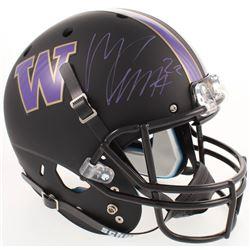 Marcus Peters Signed Washington Huskies Full-Size Custom Matte Black Helmet (Radtke COA)