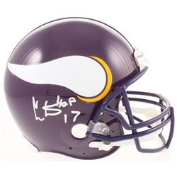 "Cris Carter Signed Minnesota Vikings Full-Size Authentic On-Field Helmet Inscribed ""HOF 13"" (JSA COA"