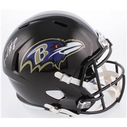 Lamar Jackson Signed Baltimore Ravens Full-Size Speed Helmet (Schwartz Sports COA)