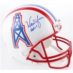 Warren Moon Signed Oilers Full-Size Helmet Inscribed  HOF 06  (Moon Hologram  Radtke COA)