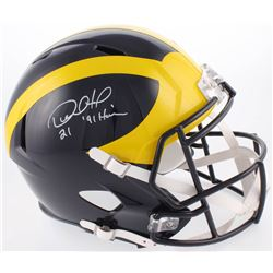 "Desmond Howard Signed Michigan Wolverines Full-Size Speed Helmet Inscribed ""'91 Heisman "" (Radtke CO"