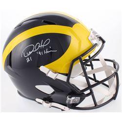 Desmond Howard Signed Michigan Wolverines Full-Size Speed Helmet Inscribed  '91 Heisman   (Radtke CO