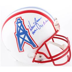 "Warren Moon Signed Oilers Full-Size Helmet Inscribed ""HOF 06""  ""9x Pro Bowl"" (Radtke COA  Moon Holog"