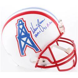 Warren Moon Signed Oilers Full-Size Helmet Inscribed  HOF 06    9x Pro Bowl  (Radtke COA  Moon Holog