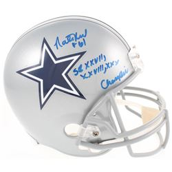 "Nate Newton Signed Dallas Cowboys Full-Size Helmet Inscribed ""SB XXVII, XXVIII, XXX Champs"" (JSA COA"