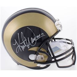 "Kurt Warner Signed St. Louis Rams Full Size Replica Helmet Inscribed ""HOF 17"" (Radtke COA  Warner Ho"