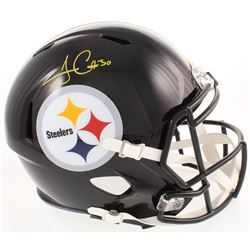 James Conner Signed Pittsburgh Steelers Full-Size Speed Helmet (Radtke COA)