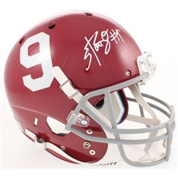 Bo Scarbrough Signed Alabama Crimson Tide Full-Size Helmet (Radtke COA)