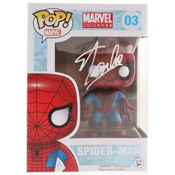 Stan Lee Signed Marvel Spider-Man #03 Funko Pop! Vinyl Figure (Radtke COA  Lee Hologram)