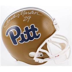 Curtis Martin Signed Pittsburgh Panthers Full-Size Helmet (Radtke COA)
