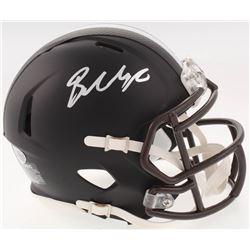 Baker Mayfield Signed Cleveland Browns Custom Matte Black Speed Mini Helmet (Beckett COA)