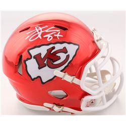 Travis Kelce Signed Kansas City Chiefs Chrome Speed Mini Helmet (Beckett COA)