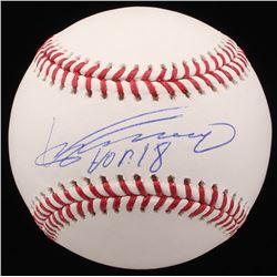 Vladimir Guerrero Signed OML Baseball Inscribed  HOF 18  (JSA COA)